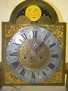 "Antique 84"" European Grandfather Clock Enscribed Vulnerant Omnes Ultima Necat"