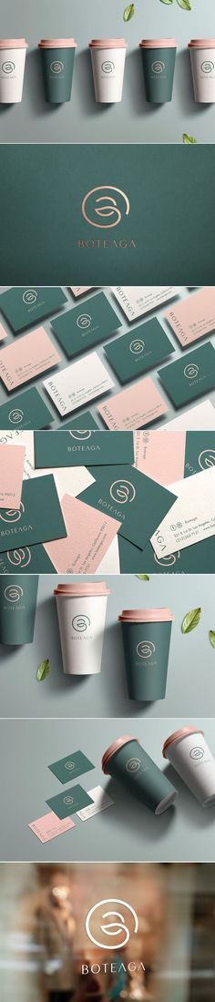 Boteaga specialty tea store logo, branding and packaging by W/H design Brand Identity Design, Corporate Design, Design Agency, Business Card Design, Branding Design, Green Design, Graphisches Design, Print Design, Logo Branding