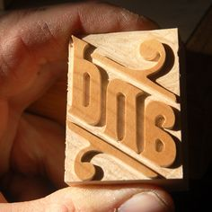 Wood Type Catchwords into Digital on Typography Served