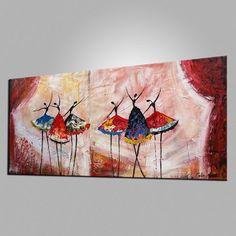 Pintura al óleo pintura de bailarina de Ballet arte por Topart007