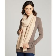 Vince Camuto Pearl jersey tuck stitch oversized muffler scarf