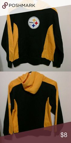 Steelers hoode Yes, I am from Pittsburgh  and I am a Steelers  fsnd.  Authentic NFL shirt.  In good used condition. NFL Shirts & Tops Sweatshirts & Hoodies