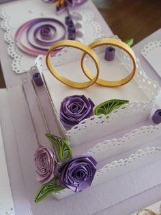 Papierowo zakręcona    : Miałam zamówienie na kolejny ślub więc wykorzysta...