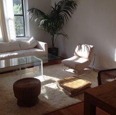 Living Room goals !!! Simple. Refreshing. Love it.