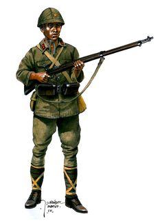 Esercito Imperiale Nipponico - Fuciliere ltto-hei (=superior) a Guadalcanal. Jarosław Wróbel