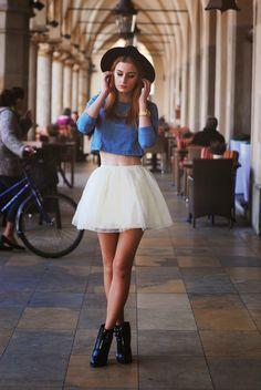 † Mademoiselle Kate †: Denim & tutu.