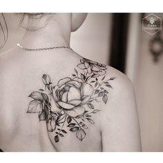 Image result for shoulder flower tattoo