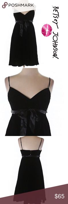 "Betsey Johnson Gothic Black Velvet Pinup Dress Black velvet retro vintage pinup swing spaghetti strap dress Sz 2. 28"" bust 32"" length A line silhouette 100% cotton with big satin bow. Gothic boho bohemian Save the most with bundling. I offer 25% off all bundles of 2 or more items. No trades or holds. I only do business on poshmark no other sites. I accept reasonable offers. Betsey Johnson Dresses Mini"