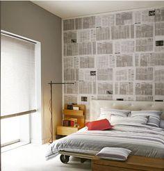 DECORAR PARED CON PAPEL DE PERIODICO | Decorar tu casa es facilisimo.com