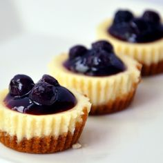 Can't believe that I have not yet shared the most popular recipe on my blog! Here are my mini blueberry cheesecakes. For the recipe, check out www.talentadongchef.com :) See you there :)