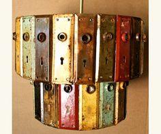 Cute  Antique Key Plate Pendant Chandelier  #Antique #DIY #Handmade #Kitchen…