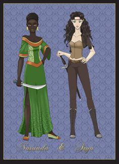 Nasuada and Arya by Baby-Blue-Bell.deviantart.com on @deviantART eragon inheritance
