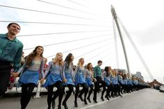 Today in Dublin, 1,629 dancers beat the official World Record of the Longest Riverdance Line ever.