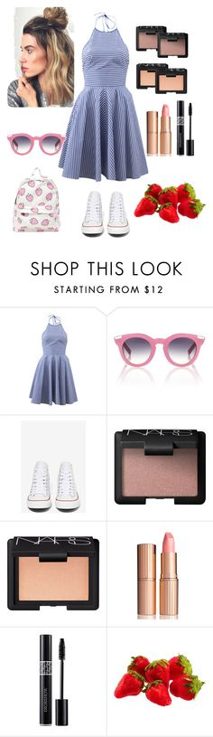 """Untitled #17"" by emeraldw ❤ liked on Polyvore featuring Michael Kors, VIVETTA, Converse, NARS Cosmetics, Charlotte Tilbury and Christian Dior"