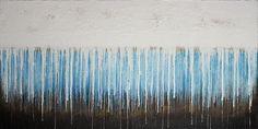 "Alexander Majer ""weinender regen fällt"" 120 x 60 x 4 cm 2016 - acrylic on canvas"