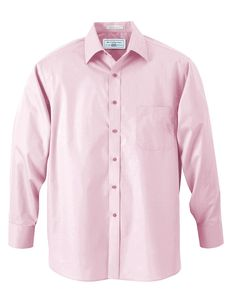 Boys 100/% Cotton Slim Fit Pink Dress Shirt with White Accents