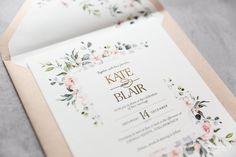 ✔️💯👉🏻Create the ultimate whimsical garden feel with this beautiful invitation design. Adorned with dainty florals that gently encase the design, this spring inspired suite is the perfect introduction to your dreamy wedding day. Order it NOW th Making Wedding Invitations, Wedding Stationery, Save The Date Cards, Invitation Design, Florals, Whimsical, Wedding Day, Inspired, Bob Cut