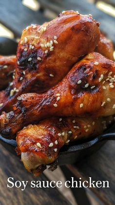 Chicken Thigh Recipes Oven, Grilled Chicken Recipes, Roasted Chicken, Turkey Recipes, Meat Recipes, Cooking Recipes, Soy Sauce Chicken, Drumstick Recipes, Grilling Recipes