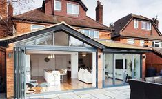some brilliant single storey extension ideas to add up space for extended family. . #single #storey #houseextension #interiordesign #houserenovation #renovation #homeextension #architecture #home #loftconversion #openplan #kitchen #house #renovationproject #projectmanagement #kitchendesign #homerenovation #trustedbuilder #singlestoreyhomeextention #fromhousetohome #architecturaldrawings #highquality #localcontractor #gerosbuilding #teamgeros #waltononthames #architecturesideas #AI House Extension Plans, House Extension Design, Extension Designs, Glass Extension, Rear Extension, House Design, Extension Google, Bifold Doors Extension, Wraparound Extension