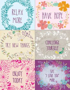 FREE printable inspirational quote notes