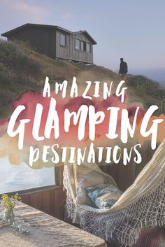 """Glamping, or """"glamorous camping,"""" is becoming one of the biggest trends in travel! With glamping, you still have the connection to the outdoors, but have some modern luxuries like comfortable beds, beautiful tents, and even clawfoot bathtubs.While offering some serious luxury, glamping is still all about immersing yourself in nature- whether it's on a lake, in the forest, or up in a tree! #Glamping"""