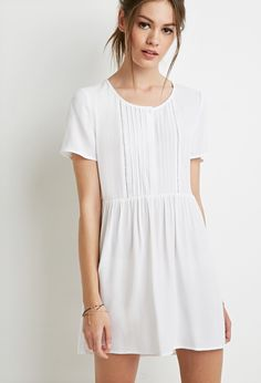 Pintucked Smock Dress | forever21 | nice simple dress for hot summer days | WANT