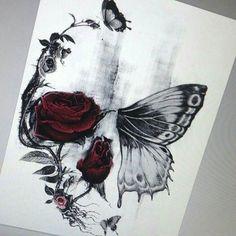 Thisnthat skull butterfly tattoo, pretty skull tattoos, butterfly tattoos for women, flower skull Foot Tattoos, Body Art Tattoos, Girl Tattoos, Tattoos For Guys, Tattoos Skull, Thigh Tattoos, Henna Tattoos, Tribal Tattoos, Pretty Skull Tattoos