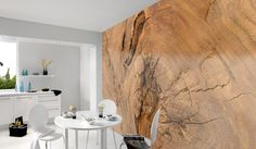 Architects Paper Fototapete «Log of wood Wall Finishes, Curtains, Shower, Digital, Prints, Inspiration, Home Decor, Paper, Wallpapers