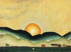 arthur dove | Arthur Dove Sunrise, Northport Harbor 1924