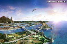 Artists depiction of Atlantis. Image credit: Atlantis - Poseidonis by . Atlantis, Drunvalo Melchizedek, Little Shop Of Horrors, Fantasy City, Minoan, Matte Painting, Lost City, Fantasy Landscape, Continents