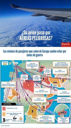infografia ¿Su avión pasa por áreas peligrosas?