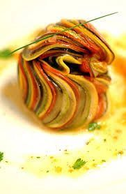 For every over of the Ratatouille movie. Ratatouille by Thomas Keller. This is the The ratatouille that Thomas created for the movie. I Love Food, Good Food, Yummy Food, Yummy Yummy, Food Design, Design Design, Graphic Design, Food Presentation, Vegetarian Recipes