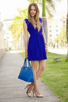 Our Favorite Style: THE BLUES New #outfit post up! #lacedress #spring2014