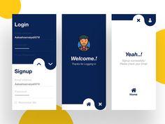 Concept Design of Login-Signup concept new ui signup professional login gradient design creative color Design Web, Login Page Design, Website Design, Dashboard Design, Graphic Design, Flat Design, App Design Inspiration, Mobile Ui Design, Application Design