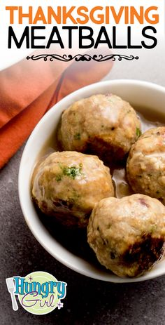 Thanksgiving Meatballs with Stuffing & Gravy + More Meatball Recipes Healthy Thanksgiving Meatballs More Meatball Recipes Skinny Recipes, Ww Recipes, Cooking Recipes, Turkey Recipes, Cookbook Recipes, Healthy Recipes, Thanksgiving Dinner Recipes, Easy Dinner Recipes, Mushrooms