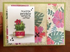 Beverly's Blog: Coffee Lover's Bloghop Newton's Nook Cuppa Cactus