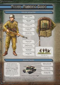 Painting Guide For Early War Polish Forces in Vallejo colors Ww2 Uniforms, German Uniforms, Military Figures, Military Diorama, Ww2 History, Military History, Military Art, Camouflage, Military Modelling