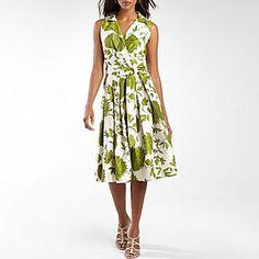 Floral Print Shirt Dress with Belt