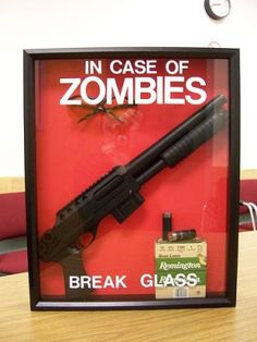 In case of zombies . great idea for those who take zombie apocalypse seriously Zombie Apocalypse Survival, Zombie Apocolypse, Zombies Survival, Post Apocalypse, Walking Dead Zombies, The Walking Dead, Vampires, Zombie Party, Zombie Zombie