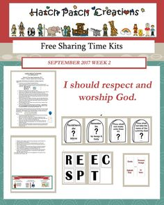 Free Sharing Time Packet  September 2017 Week 2: I should respect and worship God.