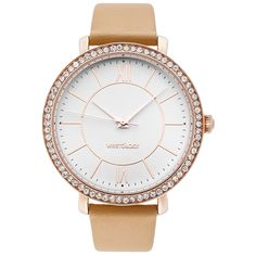 WRISTOLOGY Bridget Womens Super Chunky Rose Gold Sand Tan Boyfriend Metal Watch -- Find out more details by clicking the image