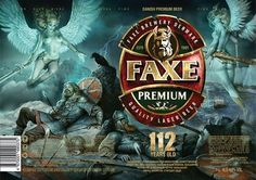 Faxe, danish beer Celtic Tattoos, Viking Tattoos, Beer Packaging, Packaging Design, Danish Beer, Fantasy Tattoos, Premium Beer, Lager Beer, Best Beer