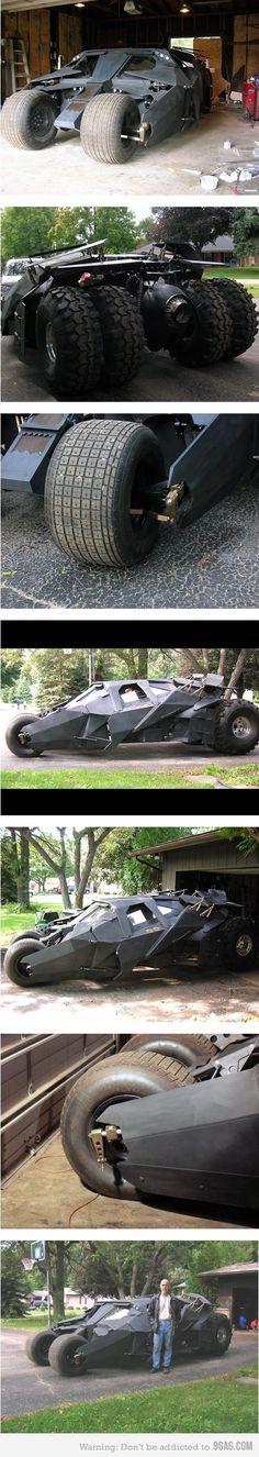 Awesome homemade Batman Tumbler!