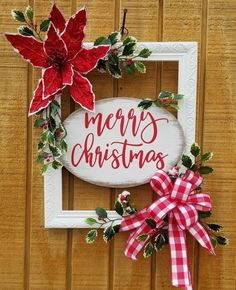 DIY Christmas Wreaths Ideas 2020 - Holiday wreaths christmas,Holiday crafts for kids to make,Holiday cookies christmas, Diy Christmas Decorations, Christmas Wreaths To Make, Noel Christmas, Holiday Wreaths, Simple Christmas, Holiday Crafts, Christmas Ideas, Christmas Signs Wood, Outdoor Decorations