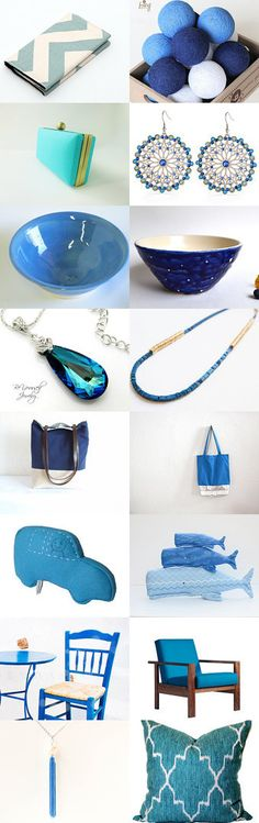 All the Blues... by neta gov on Etsy--Pinned with TreasuryPin.com #annehermine #totebag #recycled