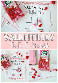 Printable Tic Tac Toe Valentine - Hashtag Blessed