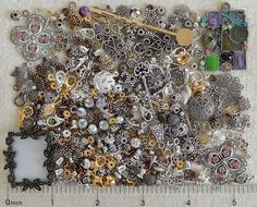 1/4 Lb Lot Pound Silver Gold Metal Beads Jewelry Making Scrap Repair Findings #SwarovskiPureAllureCrystalInnovationsJBB #CharmsLinksComponentsPendantsSpacerBeadCap