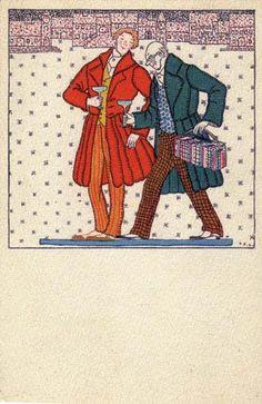 818. Fritzi Löw - Wiener Werkstatte postcard