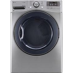 LG DLEX3570V 7.4 Cu. Ft. Ultra Capacity Front Load Steam Electric Dryer in Graphite Steel *** Read more  at the image link.