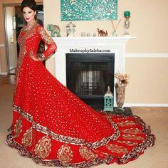 Beautiful red bridal lehanga
